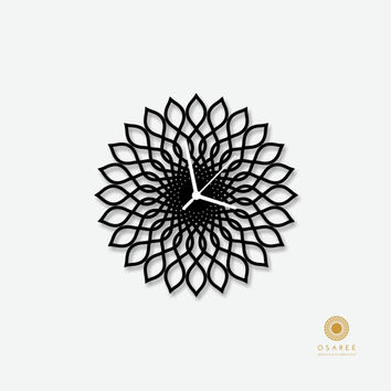 Spirograph Flower pattern  morden wall clock, Modern, Laser Cut, Wall, Art, Decor, Clock