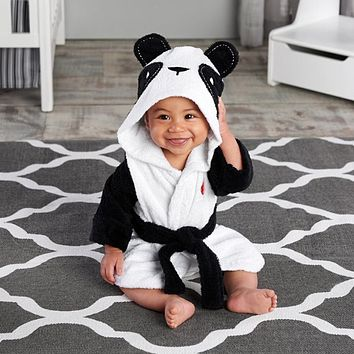 Cute Cartoon Animal Baby Bathrobe Soft Infant Girl Boy Pajamas Sleepwear Bathing Towel Children Babies Clothes
