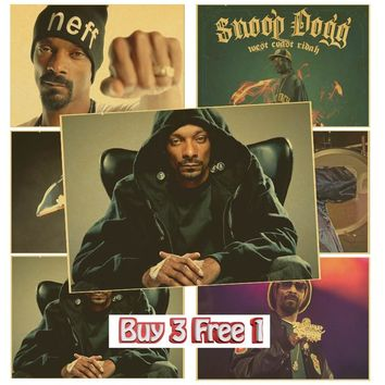 Hip Hop Music Posters 2PAC drake Wiz Khalifa snoop dogg Kanye West poster wall stickers room wall decor