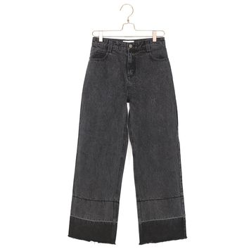 Released Hem Wide Leg Jeans