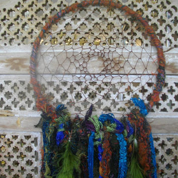 Lace Dream Catcher Bohemian Style Turquoise Olive Green Orange Home Decor Decorative Wedding Baby Mobile