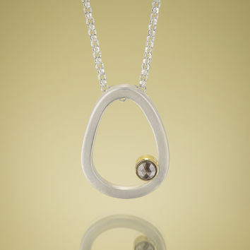 Give.Love Pendant Necklace with 4mm .75ct Rustic Diamond