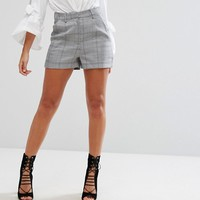 Missguided Check Tailored Shorts at asos.com