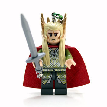 Thranduil Keychain made from Genuine The Hobbit LEGO(r) Minifigure, Elf Keychain