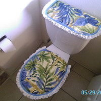 Jungle Theme Toilet/Tank Cover - Ready to Ship