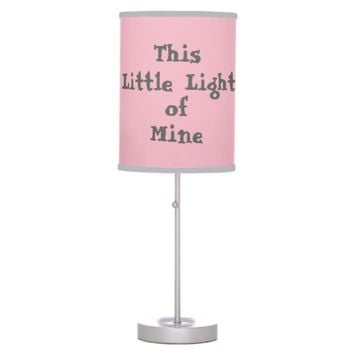 Pink Grey Little Light of Mine Table Lamp