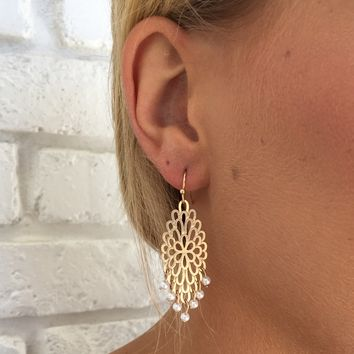 Burst Of Spring Gold Earrings