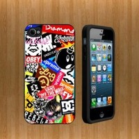 oBey ALL BRAND Custom Case/Cover FOR Apple iPhone 4 /4S BLACK Rubber Case WITH FREE SCREEN PROTECTOR ( Verison Sprint At&t)