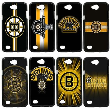 Mobile Phone Cases Boston Bruins NHL Logo Cover for LG L Prime G2 G4 G5 G6 G7 K4 K8 K10 V20 V30 2017 Nexus 5 6 5X Pixel Shell