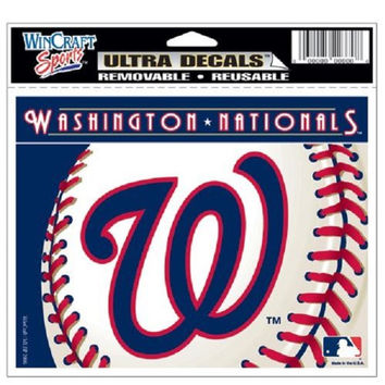 "Washington Nationals Removable 5""x6"" Car Decal"