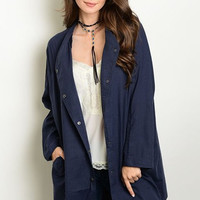 Oversized Adjustable Sleeves Jacket