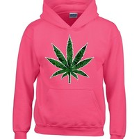 Shop4Ever® Marijuana Leaf Unisex Hoodie Weed Related Sweatshirts