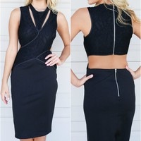 Black Camden Grove Midi Dress