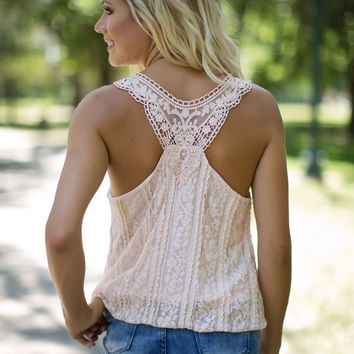 Something Sweet Tank in Soft Peach