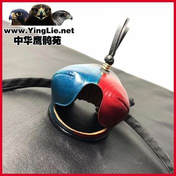 Handmade Colorful Genuine Leather Breathable Comfotable Arabic New Style Eagle Hat Suitable for All Kinds of Eagles Training