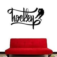 Wall Stickers Vinyl Decal Ice Hockey Sport Athlete Hockey Player Unique Gift z1138