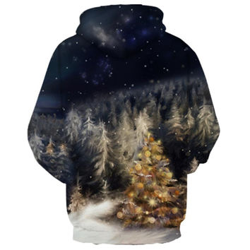 Spring Winter Sweatshirt Men Women Blessing Tree Hoodies Golden Fruit Unisex Pullovers Hooded Outerw