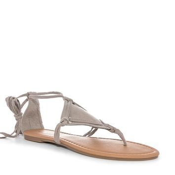 Taupe Annah Gladiator Lace Up Sandal