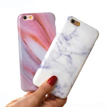 ONETOW New! Colorful IMD Marble Stone Painted Phone Case For iphone 7 Case For iphone 7 Plus 6s 6Plus 5 SE Soft Silicon coque Funda