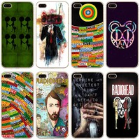 Radiohead Transparent Hard Thin Case Cover For Apple iPhone 4 4S 5 5S SE 5C 6 6S 7 8 X Plus