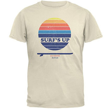 Surf's Up Backdoor Hawaii Natural Adult T-Shirt