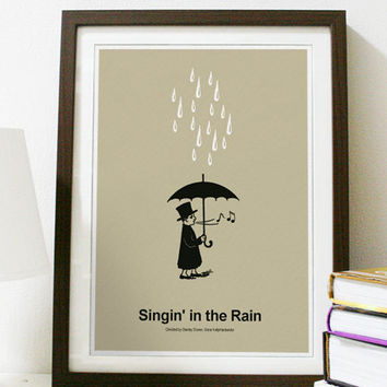 Singing In The Rain - Classic Movie Poster A3 Print