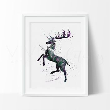 Game of Thrones, House Baratheon Watercolor Art Print