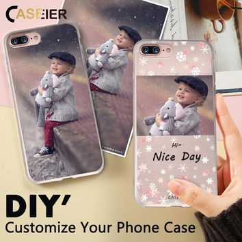 CASEIER Phone Case For iPhone 8 7 6 6s Plus Soft TPU Accessories For iPhone X 5s 5 4s 6s 7 8 Cases Customized Design Photo Cover