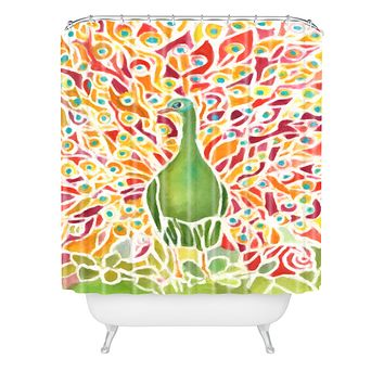 Rosie Brown Grove Peacock Shower Curtain