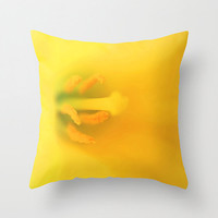 Yellow pillow, yellow cushion, daffodil pillow, flower pillow, yellow home decor, throw pillow, throw cushion, pillow cover, cushion cover