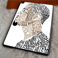 J COLE TYPOGRAPHIC ART iPad Air Case