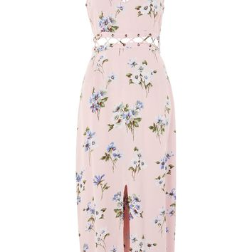 Floral Lattice Midaxi Dress - New In Fashion - New In
