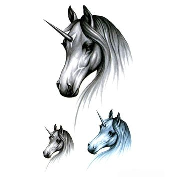 Unicorn Waterproof Temporary Tattoos Men Maquiagem Beauty Horse Temporary tatoo Sticker Tatouage temporaire adesivos
