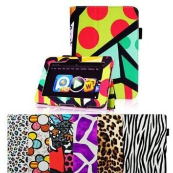 """Fintie Kindle Fire HD 7"""" (Previous Generation) Slim Fit Leather Case with Auto Sleep/Wake (will only fit Amazon Kindle Fire HD 7"""", Previous Generation) - Graffiti Pattern"""