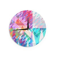"Miranda Mol ""Triangle Feast"" Abstract Geometric Wall Clock"