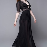 Widow | Calypso Chiffon Over Dress - Tragic Beautiful buy online from Australia
