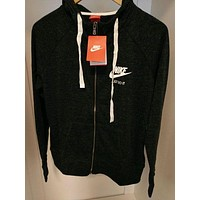 Nike Women Hooded Casual Tracksuit Jacket - Black