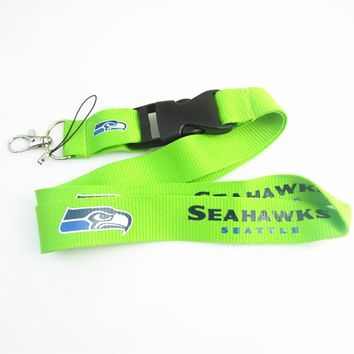 Seattle Seahawks Lanyard Neck Strap For ID Pass Card Badge Gym Key Mobile Phone USB Holder DIY Hang Rope Lanyard Keychain
