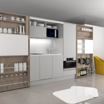 Pia Alta Pop-up kitchen Pia - Compact kitchens by dizzconcept | Architonic