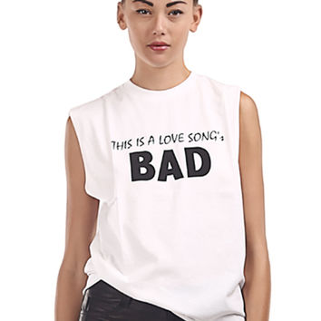 This Is A Love Song's Bad White Tee - 50% OFF