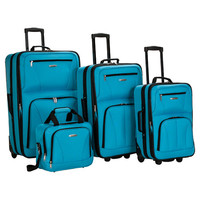 You should see this 4 Piece Luggage Set in Turquoise on Daily Sales!