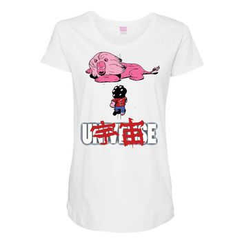akira universe Maternity Scoop Neck T-shirt