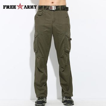Free Army Brand Cotton Military Men Pants Army Green Casual Style Military Trousers Full Length Men Trousers Pants MK-757