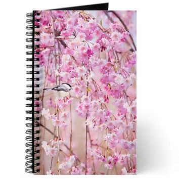 Black Cap Chicakdee In Pink Weeping Willow Journal> Black Cap Chicakdee In Pink Weeping Willow> Daphsam's Photography and Art