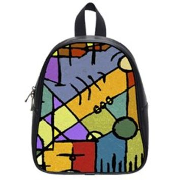 Multicolored Tribal Pattern Print School Bag (Small)