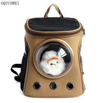 GQIYIBBEI Zipper Lock Breathable Safety Portable Travel Pet Carrier Space Backpack Cat/Dog Astronaut Capsule Bag Pet Appliances