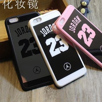 Jordan 23 Surface Silicon Soft TPU Mirror Cases For iphone 7 6s SE 6s 5 5s Phone Case