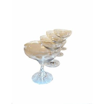 Short Stemmed Crystal Coupe Glasses