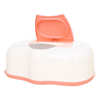 Tissue Case Baby Wipes Box Plastic Wet Tissue Automatic Case Care Accessories Press Pop-up Design-Color random