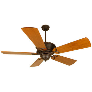 Craftmade K10349 Riata Aged Bronze Ceiling Fan with 54-Inch Premier Distressed Teak Blades